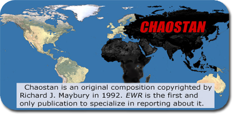 world map of countries that make up Chaostan