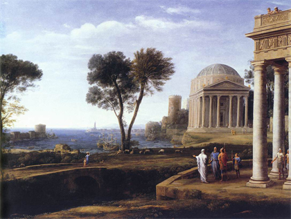 Painting the Landscape with Aeneas at Delos 1672 by  Claude Lorrain