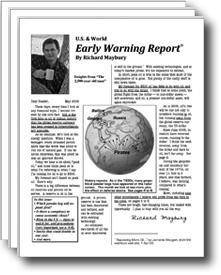 picture of front cover of multiple copies of Early Warning Report